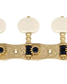 GOTOH® 35P1800 MACHINE HEADS SLOTTED HEAD IVORY BUTTONS (1:14) POLISHED BRASS