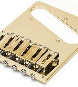 Tele Gotoh Bridge 10.8Mm Brass Saddles Gold