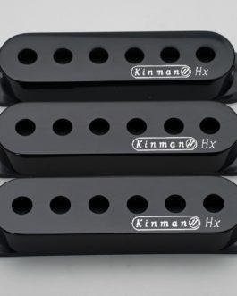 Kinman Strat Cover Set Black With Logo