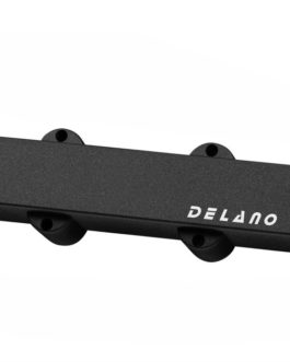 Delano J.Bass 4 Split Coil Humb Cover Bk No Hole Bridge