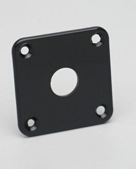 Lp Jack Plate Plastic Black