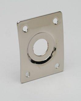 Plaque Jack Rectangulaire Nickel Avec Cuvette