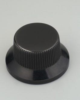 Bouton Type Strat Metal Black (Screw) (2)
