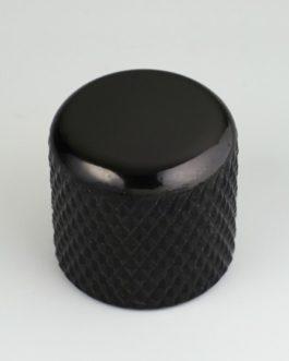 Dome Knob Black 6.35Mm (For Solid Shafts) (2)