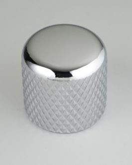 Dome Knob Chrome 6.35Mm (For Solid Shafts) (2)