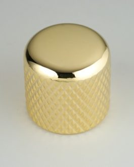 Dome Knob Gold 6.35Mm (For Solid Shafts) (2)