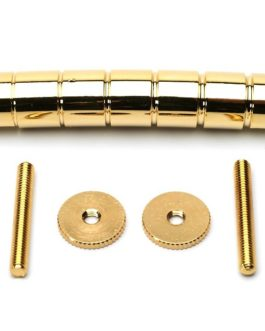 Gretsch* Style Bar Bridge Solid Brass Gold (E-E 52 Posts:74.6)