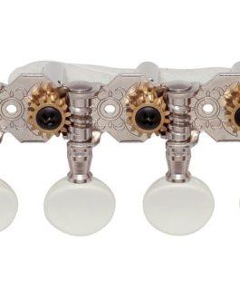Gotoh Mandoline Tuners (Slot) White Button / Nickel