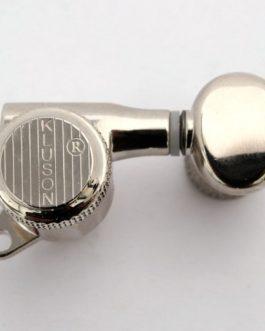 Kluson Back-Lock 6X1 Nickel Bouton Ovale