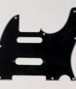 TELE CUT FOR STRAT IN MIDDLE BLACK 3-PLY 8 H .090″