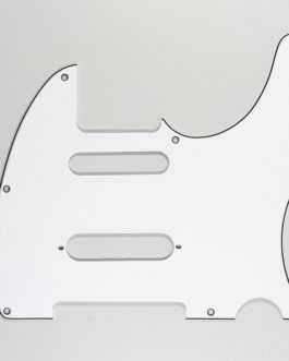 TELE CUT FOR STRAT IN MIDDLE WHITE 3-PLY 8 H .090″