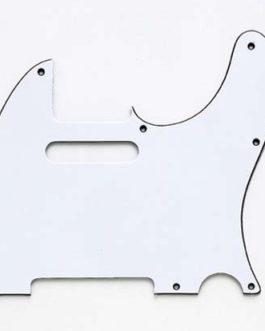 PICKGUARD TELE 8 HOLES 3 PLY WHITE (2.4mm)