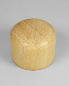 Dome Knob Box Wood + Vis Flat Top (2)