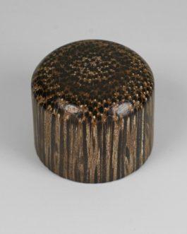 Dome Knob Tiger Wood + Vis Flat Top (2)