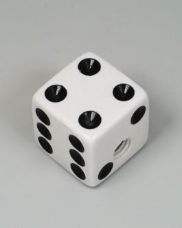 Dice Knob White (2) + Fix