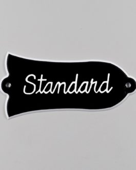 Trussrod Coverstandard Black 2-Ply