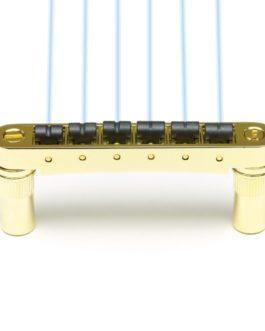 GHOST LOADED RESOMAX NV 6mm TUNE-O-MATIC BRIDGE GOLD