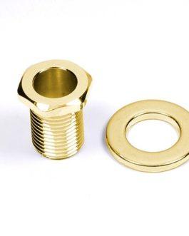 6 X Ecrou + Rondelle Metal Pour Mec.Bain D'Huile Gold