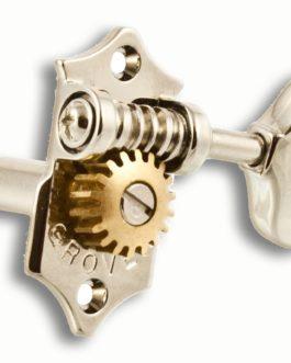 Grover Sta-Tite 3X3 Scalloped Button Nickel 1:18