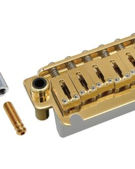 Gotoh 2 Inserts Steel Saddle 10.8Mm Steel Block Gold