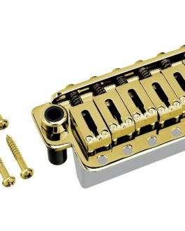 Gotoh 6 Screws Steel Saddle 10.8Mm Steel Block Gold