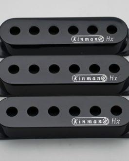 Kinman Strat Cover Set Big 9/O Black With Logo