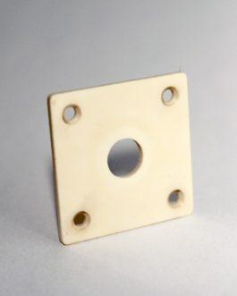 Lp Jack Plate Plastic Aged Light Cream