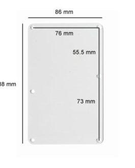 Tremolo Plate Large Slot White 3-Ply