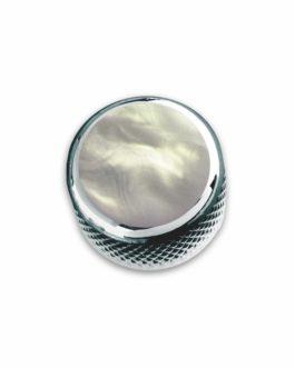 Q-Part Dome Chrome Acrylic White Pearl