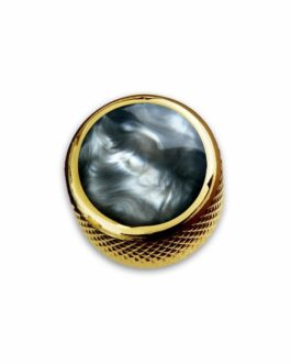 Q-Part Dome Gold Acrylic Black Pearl