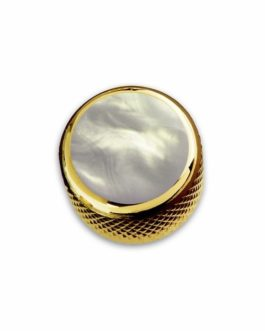 Q-Part Dome Gold Acrylic White Pearl