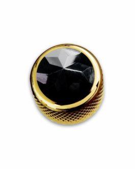 Q-Part Dome Gold Black Onyx