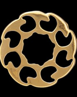 !! DISCONTINUED !! Q-PART METAL RING FIRE WHEEL GOLD