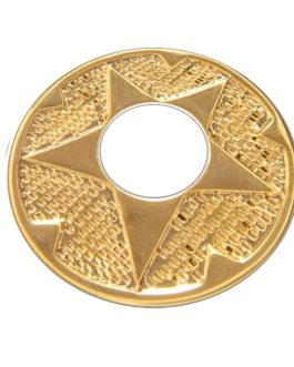!! DISCONTINUED !! Q-PART METAL RING WESTERN GOLD