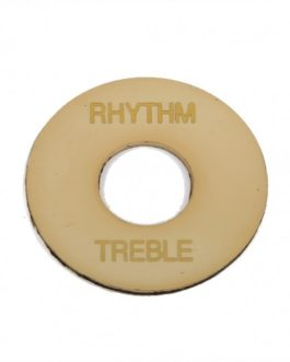 Treble/Rythm Round Toggle Plate Cream Aged