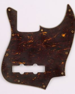 60'S Tortoise Style Jazzbass Pickguard 3-Ply 10 Holes Aged