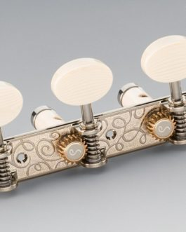 Schaller Grand Tune Classic Lyra Nickel Bearings / Galalith Oval