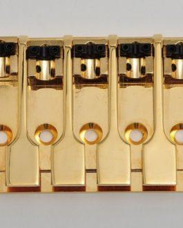 *GOLDO 5-STRING 3-D TOP LOAD BASS BRIDGE GOLD (16.8mm +/-1mm PITCH)