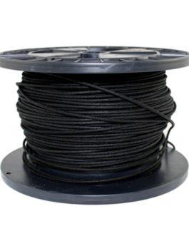Fil Cablage Vintage Tissu Black Bobine 30 Metres