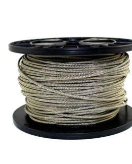 Fil Cablage Tissus+Tresse Metal Bobine 30 Metres