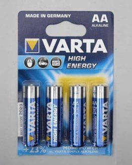 Varta High Energy Alkaline 1.5 Volts Type Lr6 (4 Pcs)
