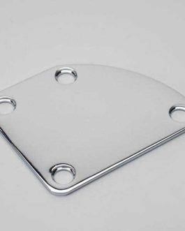 Neck Plate Curved Chrome