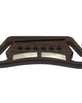 Mustache Acoustic Guitar Bridge Rosewood-Inlays-Finished
