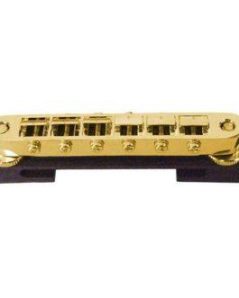 Jazz Guitar Ebony Bridge + Tunomatic Gold