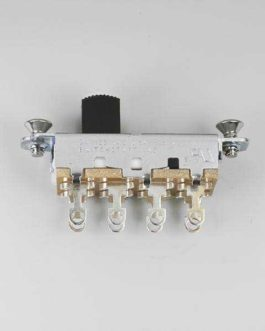 ON-OFF-ON SLIDE SWITCH SWITCHCRAFT MUSTANG BLACK TIP