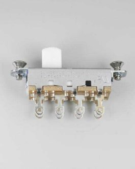 ON-OFF-ON SLIDE SWITCH SWITCHCRAFT MUSTANG WHITE TIP