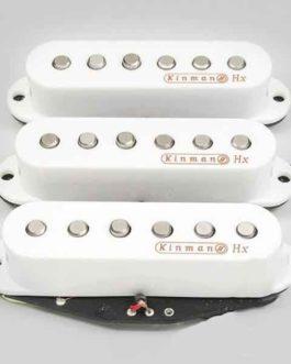 Set de 3 Big Nine-0 Blanc Kinman Pickup Set Pour Strat/®
