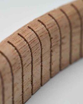 Kerfed Linings (740 X 17 X 5Mm) 2 X Spruce  Et  2 X Mahogany