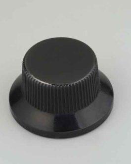 Bouton Type Strat Metal Black (Screw)