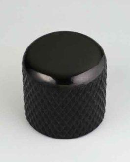 Dome Knob Black 19 X 19    6.35Mm
